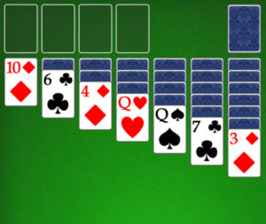 Initial Solitaire Layout graphic