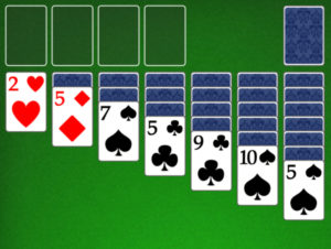 New solitaire game laid out