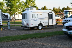 Casita Trailer in a campground